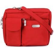 Baggallini Wallet Bag Messenger Bag, Red (Tomato)