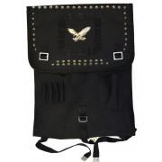 Plecak wojskowy, czarna kostka z ćwiekami ORZEŁ