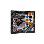 My Planet Créez vos propres Chocolat Coffret cadeau avec livre de recettes et 12 moules à pâtisserie en Silicone, le tout dans un coffret cadeau