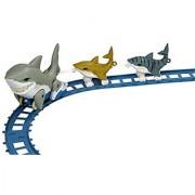 Wild Republic Shark Aquatic Train Express Animal Train Set Childrens Toy