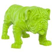 Statue déco 'DODGE' chien en polyrésine verte