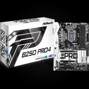 MB, ASRock B250 PRO4 /Intel B250/ DDR4/ LGA1151