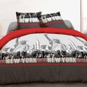 Eminza Copripiumino e due federe (240 cm) New York Rosso