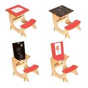 Little Helper 4-in-1 ArtStation Bambino Desk / lavagna e cavalletto (3 - 6 anni, Acero / naturale / Red)