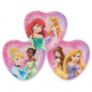 """Princess Heart 7"""" Plates Birthday And Holiday Party Supplies 8 Per Pack"""