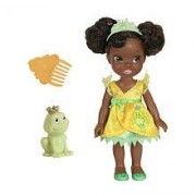 Disney Princess, My First Princess Exclusive Toddler Doll, Petite Tiana (Green Dress) & Frog, 6 Inches by Tolly Tots