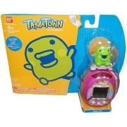 Tamagotchi Tamatown Pink and Green Tama-go with Kuchipatchi Gotchi Figure Charm