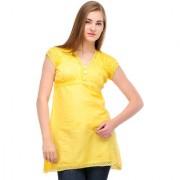 Karisma Net Yoke Tunic Yellow