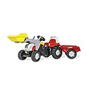 rolly toys 023936 rollyKid Steyr CVT 6190 with shovels and Annex