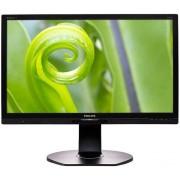 "Monitor IPS LED Philips 21.5"" 221P6EPYEB, Full HD (1920 x 1080), VGA, DVI, DisplayPort, 5 ms, Boxe, Pivot (Negru)"