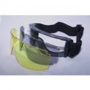 X800 type goggles Tactical police, the Ground Self-Defense Force SWAT Military - 3 colors with Lens (Yellow Smoke Clear) (japan import)