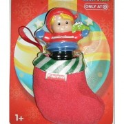 Fisher Price Little People Blonde Hair Girl with Stocking Target Exclusive Toy