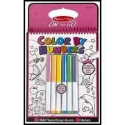 Carnet de colorat pe numere pentru fetite
