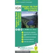 Fietskaart - Wandelkaart 28 Top75 Vosges du Sud - Ballon d'Alsace - Le Hohneck | IGN