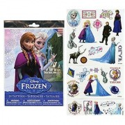 4 - Set Of 25 Temporary Tattoos From Disneys Hit Movie Frozen-Tattoos Include Princess Anna Queen Elsa Olaf Kristoff