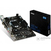 Placă de bază MSI H81M PRO-VD Intel H81 LGA1150 mATX