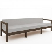 Sofá 3 Lugares Componível com Almofadas Lazy Nogueira - Mão & Formão
