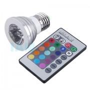Цветна LED Лампа Е27 с дистанционно управление