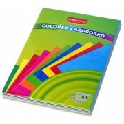 Carton A4 colorat 10 culori 100 file 230g School Office