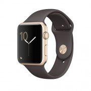 APPLE APPLE WATCH SERIES 2 42MM GOLD ALUMINIUM CASE WITH COCOA SPORT BAND
