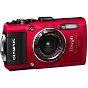 """Olympus TG-4 Cámara de fotos subacuática de 16 Mp (pantalla de 3"""", zoom óptico 4x, estabilizador digital, grabación de video Full HD, WiFi, GPS), rojo"""