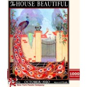 Peacock Garden House Beautiful 1000-Piece Puzzle
