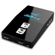 Convertitore HDMI 1.4 3D -> HDMI/DVI/VGA Frame Sequential, Nero