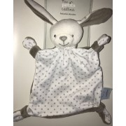 Doudou Lapin Plat Gris Blanc Etoiles Grises Mes Petits Cailloux Peluche Jouet Eveil Bebe Soft Toys Comforter Grey And White Bunny Stars Baby