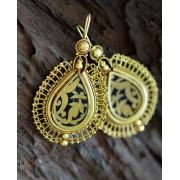 Ornate Gold Plated Silver Earrings