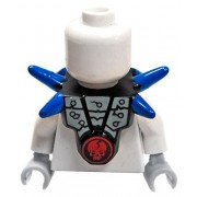 LEGO Armor Breastplate with Blue Shoulder Spikes & Cracked Red Skull Pattern [Loose]