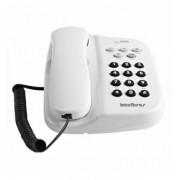 Telefone com Fio de Mesa ou Parede TC500 Branco Com Chave de Bloqueio Intelbras