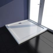 vidaXL Base de duche, rectangular, ABS, branco 80 x cm