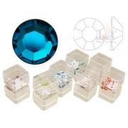 Pietricele cristal, 50 buc., culoare blue-zircon, ss5, art. nr.: 761534