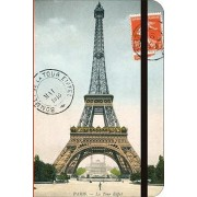 Paris Eiffel Tower Small Lined Notebook by Cavallini & Company