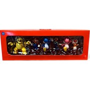 Super Mario Mini Figure 6Pack Collector Set Bowser, Mario, Blue Yoshi, Luigi, Pink Yoshi Toad