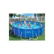 Bestway Metal Frame Pool Komplett Set 457x91 56066