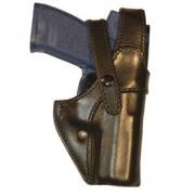 Funda de Pistola en cuero moldeado con doble cierre, especial para uniformidad