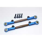 HPI Bullet Nitro 3.0 Upgrade Parts Spring Steel Front Adjustable Tie Rod With Aluminium Ends (4mm Anti Cross-Thread, To Extend 73mm-80mm) - 1Pr Set Blue