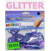 Rubbzy 100 Pc Special Edition Tie Dye/Glitter Rubber Bands W/ 4 Connectors (#821)