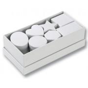 Dárkové krabičky různých tvarů,15ks,bílá()