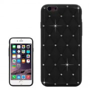 Starry Diamond Encrusted Silicone Case for iPhone 6 Plus & 6S Plus(Black)