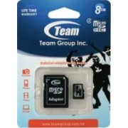 Card de Memorie Team Group microSDHC 8GB Clasa 4 + Adaptor SD