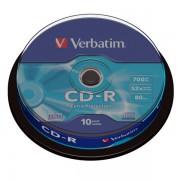 CD-R 52x 700MB Verbatim Extra Protection Tarrina 10 uds