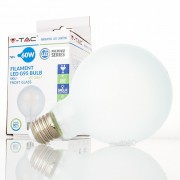Lâmpada LED E27 7w»60W Luz Quente 840Lm G95 FROSTglass