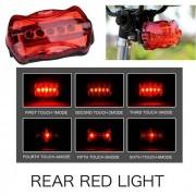 1 - RT - 08-1 5LED luz trasera para bicicleta / coche electrico bicicleta - rojo + negro