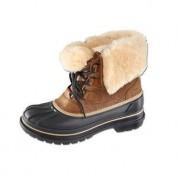 Crocs™ Damen- oder Herren-Winter-Boots, 43/44 - Camel/Schwarz - Herren