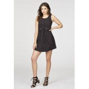 JustFab Robes Belted Suede Dress Femme Couleur Noir Taille XS JustFab