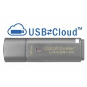 Memoria USB Kingston DataTraveler Locker+ G3, 8GB, USB 3.0, Plata