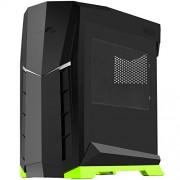SilverStone SST-RVX01BA W-Case PC ATX, colore: nero/verde