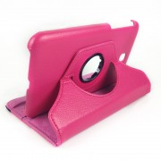 360 Degree Rotary Case Cover for Samsung Galaxy Tab 3 7.0 - Hot Pink